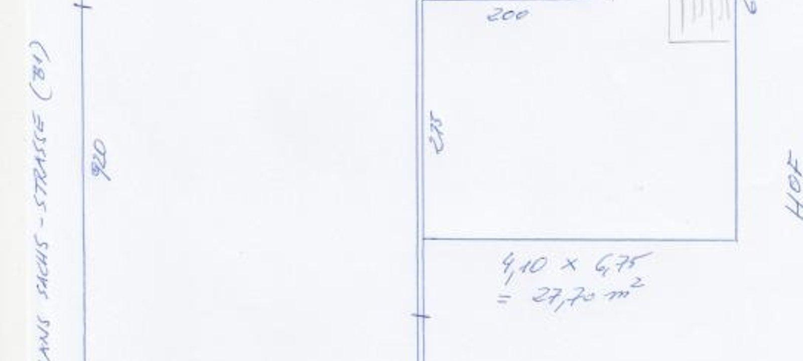 1. Plan der Arbeitsfläche, ohne Gang, WC, Bad, Koc