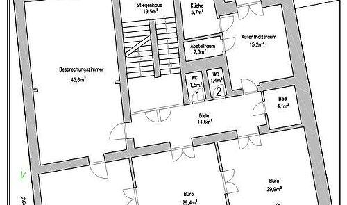 EG Grundriss + Raumaufteilung