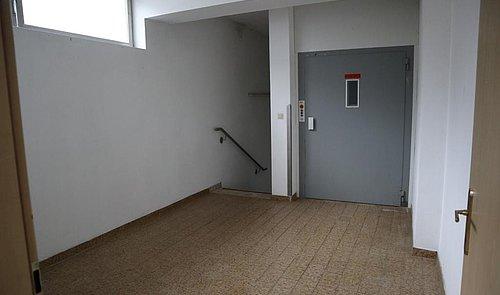 Abgang Keller, Lagerräume