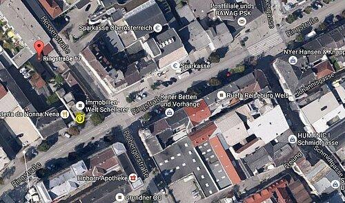 """Lageplan """"gelb markiertes Lokalfläche"""""""